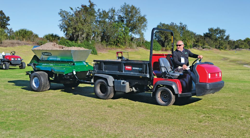 Outdoor demonstration by Turfco